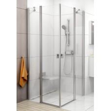 Dušas Durvis Stūrim Crv2, 80cm, Balts/Caurspīdīgs Stikls
