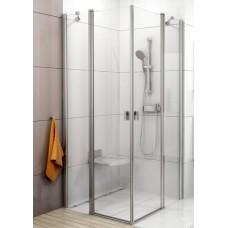 Dušas Durvis Stūrim Crv2, 100cm, Satīns/Caurspīdīgs Stikls