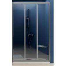 Dušas Durvis Asdp3, 130cm, Balts/Caurspīdīgs Stikls