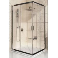 Dušas Durvis Stūrim Blrv2K, 110cm, Balts/Caurspīdīgs Stikls