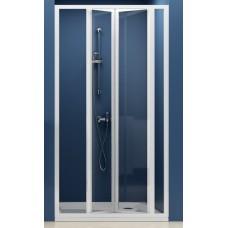 Dušas Durvis Sdz3, 90cm, Balts/Caurspīdīgs Stikls