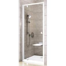 Dušas Durvis Pdop1, 90cm, Balts/Caurspīdīgs Stikls,  Hroma Rokturis