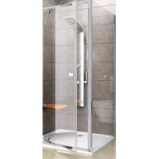 Dušas Siena Pps, 100cm, Satīns/Caurspīdīgs Stikls