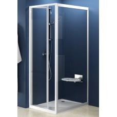 Dušas Siena Pss, 90cm, Balts/Caurspīdīgs Stikls