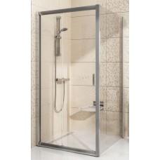 Dušas Siena Blps, 90cm, Satīns/Caurspīdīgs Stikls