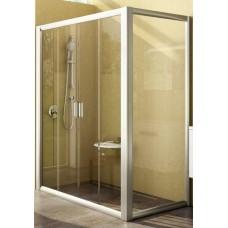 Dušas Siena Rps, 100cm, Balts/Caurspīdīgs Stikls