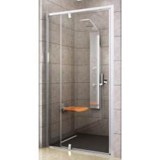 Dušas Durvis Pdop2, 110cm, Balts/Caurspīdīgs Stikls