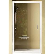 Dušas Durvis Nrdp2, 100cm, Balts/Caurspīdīgs Stikls