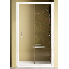 Dušas Durvis Nrdp2, 110cm, Balts/Caurspīdīgs Stikls
