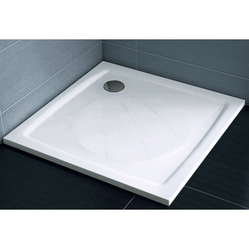Dušas Vanniņa Perseus Pro Chrome, 80cmx80cm, Balta