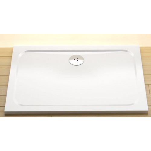 Dušas Vanniņa Gigant Pro Chrome, 100cmx80cm, Balta