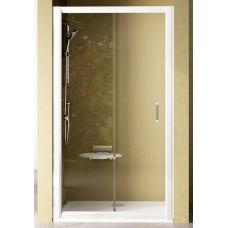 Dušas Durvis Nrdp2, 120cm, Satīns/Caurspīdīgs Stikls
