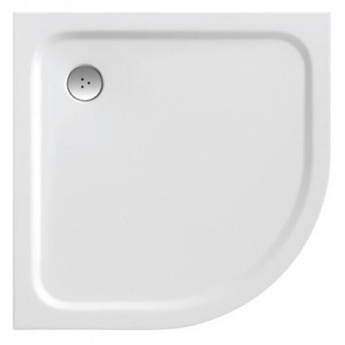 Dušas Vanniņa Elipso Pro Chrome,80cmx80cm,Balta