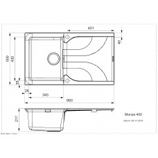 Virtuves Izlietne Monza 400,50cmx86cm