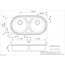 Virtuves Izlietne Andalucia (R),44.5cmx85.5cm