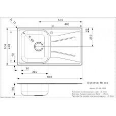 Virtuves Izlietne Diplomat 10 Eco (R),50cmx86cm