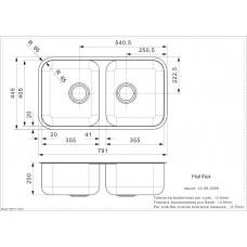 Virtuves Izlietne Halifax (L),44.5cmx79cm