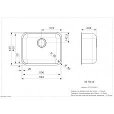 Virtuves Izlietne Ib 5040 (L),44cmx54cm