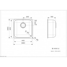 Virtuves Izlietne Ib 4040 (U),44cmx44cm