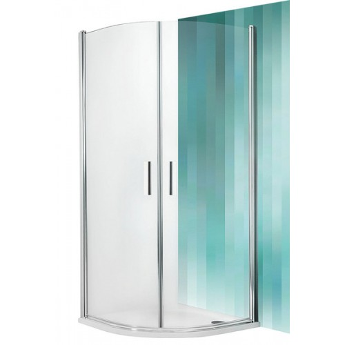 Dušas Stūris Tr1,90cmx90cm, briliants/caurspīdīgs stikls