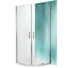 Dušas Stūris Tr1,90cmx90cm, matēts sudrabs/caurspīdīgs stikls