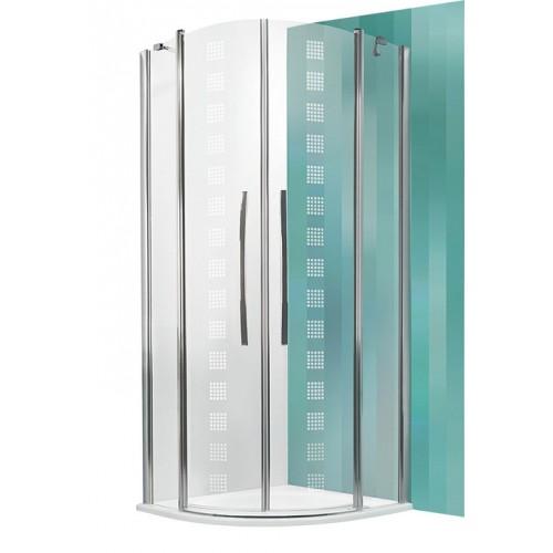Dušas Stūris Tr2,90cmx90cm, briliants/drkora stikls