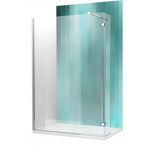 Dušas Stūris Walk C120cm, briliants/caurspīdīgs stikls