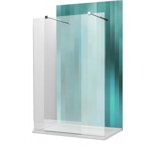 Dušas Stūris Walk H120cm, briliants/caurspīdīgs stikls