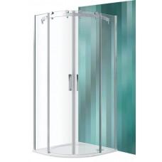 Dušas Stūris Amr2N,100cmx100cm, briliants/caurspīdīgs stikls