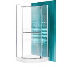 Dušas Stūris Austin,90cmx90cm, matēts sudrabs/dekora stikls