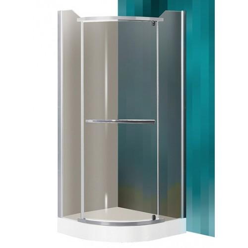 Dušas Stūris Denver,80cmx80cm, matēts sudrabs/tonēts brūns stikls