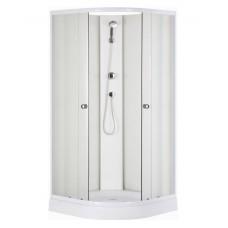 Dušas Kabīne Europa,90cmx90cm,balts/caurspīdīģs stikls
