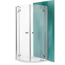 Dušas Stūris Gr2,100cmx100cm, briliants/tonēts brūns stikls