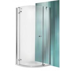 Dušas Stūris Grp1,100cmx100cm, briliants/caurspīdīgs stikls