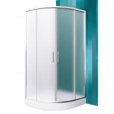 Dušas Stūris Houston Neo,80cmx80cm, briliants/matēts stikls