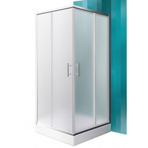 Dušas Stūris Orlando Neo,90cmx90cm, briliants/matēts stikls