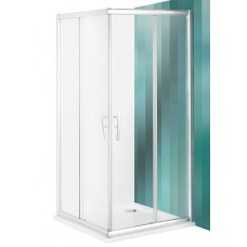 Dušas Durvis Stūrim Pxs2L, briliants/caurspīdīgs stikls