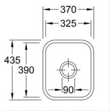Virtuves Izlietne Cisterna 45,43.5cmx37cm
