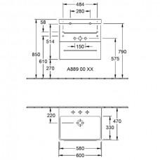Izlietnes Skapītis Avento,44.7cmx56.7cm