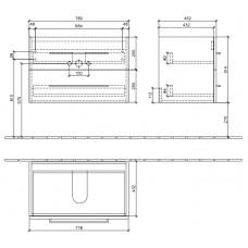 Izlietnes Skapītis Avento,44.7cmx76cm