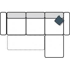 Stūra dīvāns ASCOT